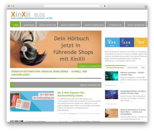 RapidNews newspaper WordPress theme - blog.xinxii.de