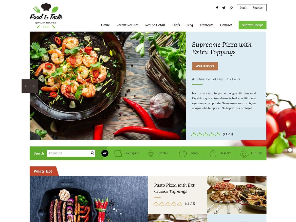 Recipe Press food WordPress theme