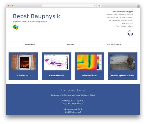 SmartShop WordPress ecommerce template - bauphysik-bebst.de