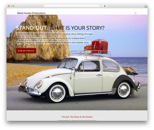 Template WordPress Salient - blackfenderproductions.com