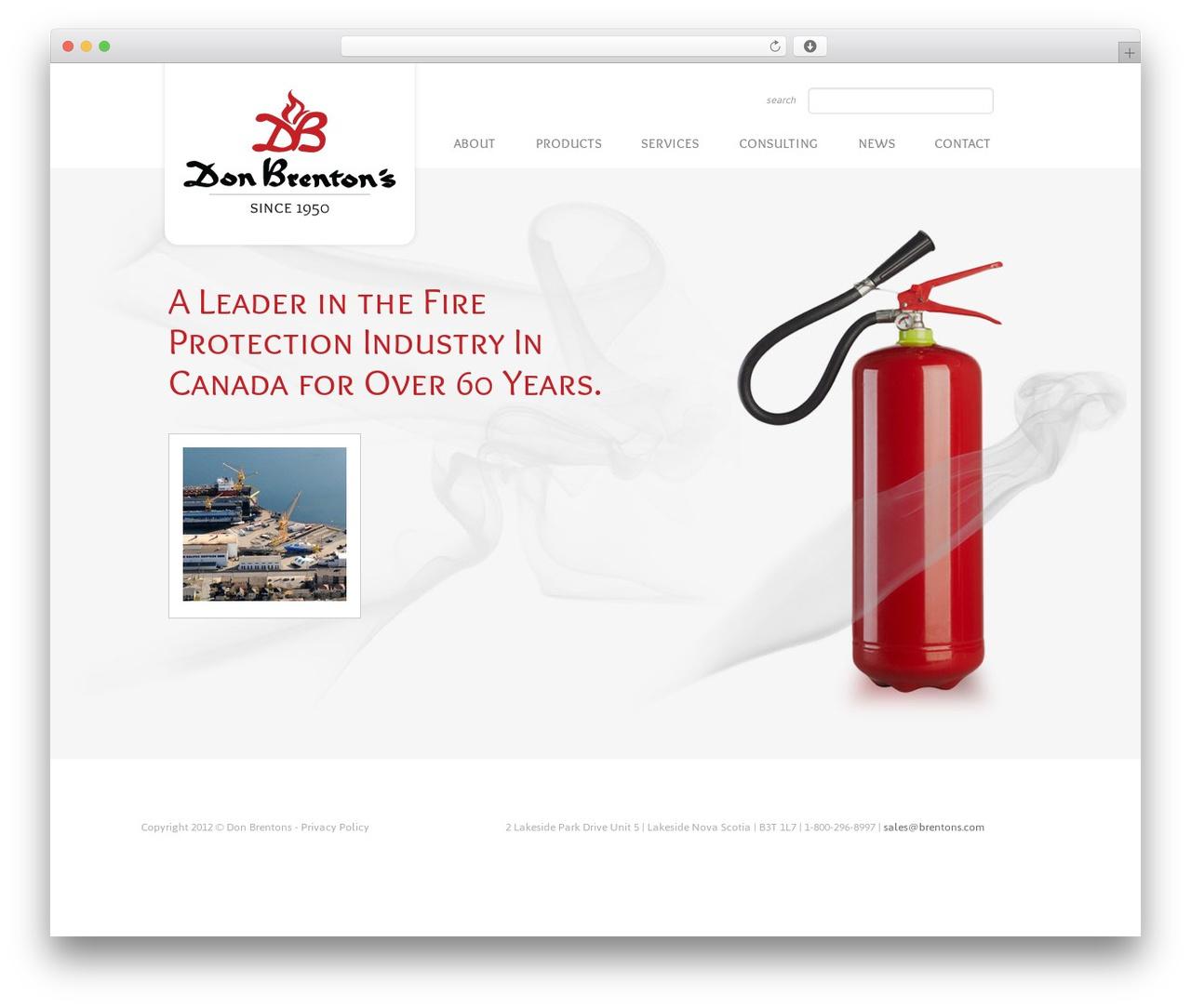 Twenty Eleven best WordPress template - brentons.com