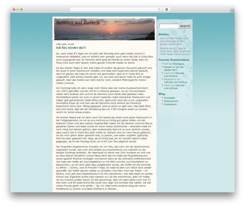 WordPress theme BlueSky - bettina-auf-reisen.de