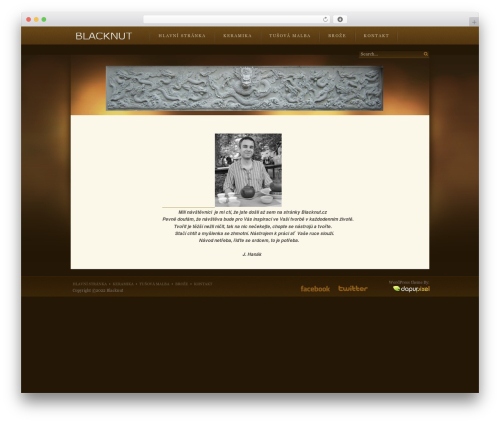WordPress theme Velvet Sky - blacknut.cz