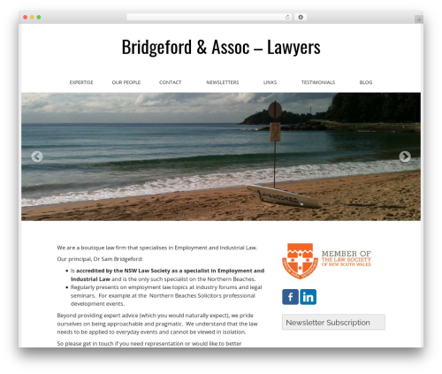 WordPress website template Matheson Pro - bridgefordlawyers.com.au