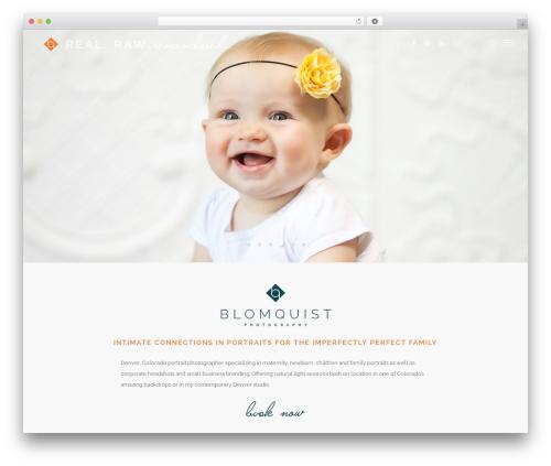 WordPress website template Salient - blomquistphotography.com