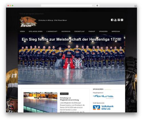 Best WordPress template GoalKlub - eishockey-bitburg.de