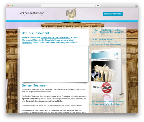 Cell free WP theme - berliner-testament.biz