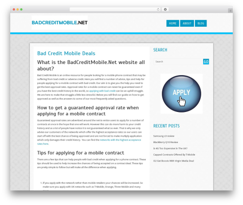 Cell theme WordPress free - badcreditmobile.net