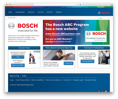 Creativo 4.0 template WordPress - boschprohvac.com