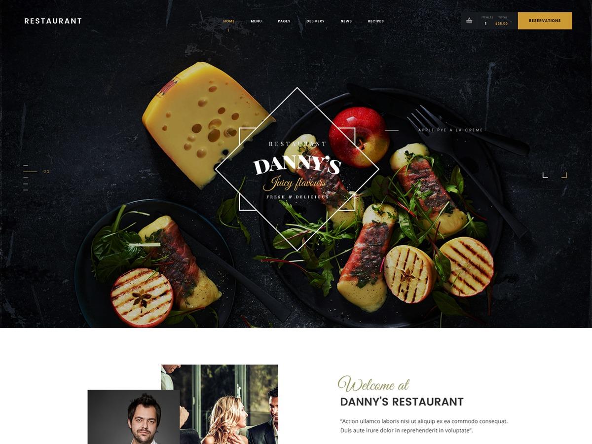 Danny's Restaurant WordPress restaurant theme
