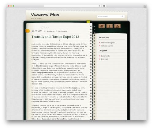 Diary/Notebook WordPress page template - blog.vacanta-mea.eu