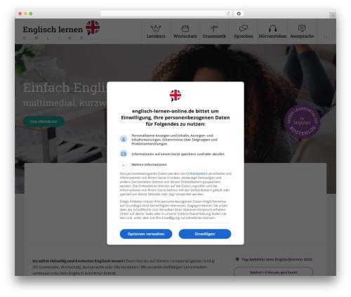 Learn Online theme WordPress - englisch-lernen-online.de