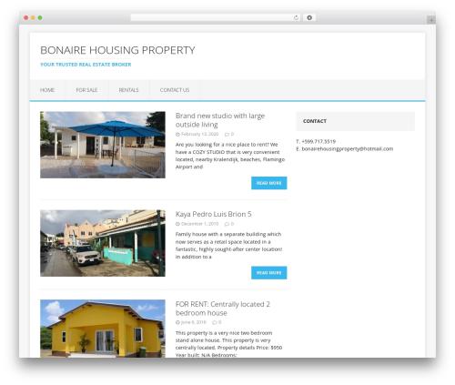 MH Edition lite free WordPress theme - bonairehousing.com