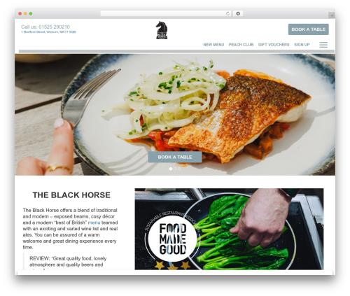 Peach Pubs WordPress template - blackhorsewoburn.co.uk