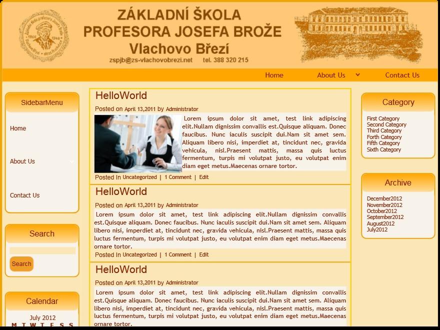 varianta34 WordPress page template