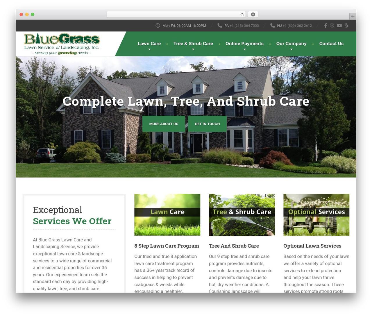 WordPress theme The Landscaper - bglawnservice.com