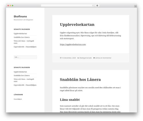 Best WordPress template Twenty Fifteen - ekofinans.se
