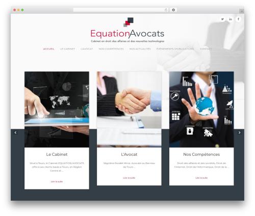 Bizly WordPress website template - equation-avocats.com