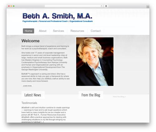 Cushy WordPress theme - bethasmith.com
