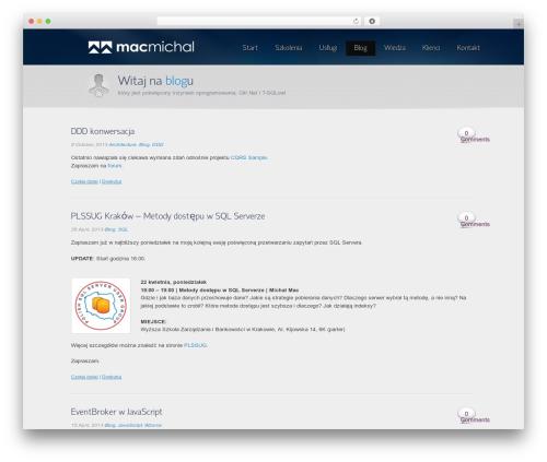 Envision Child WordPress blog theme - blog.macmichal.pl