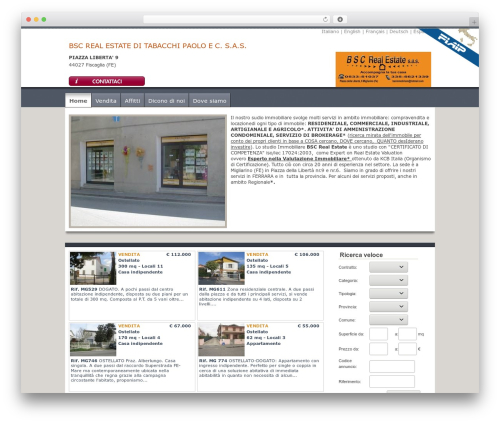 Thematic real estate WordPress theme - bscrealestate.it