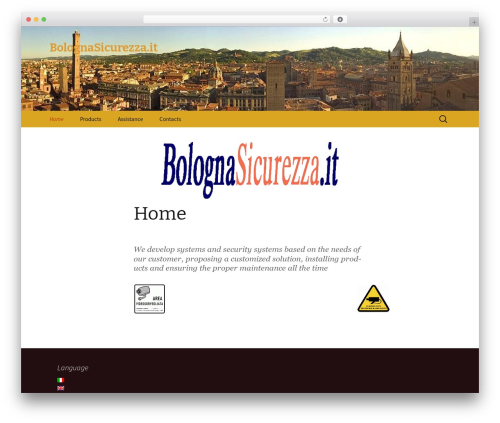 Twenty Thirteen best free WordPress theme - bolognasicurezza.it