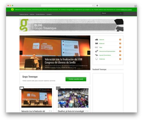 Bangkok Press WordPress blog template - blog.trevenque.es