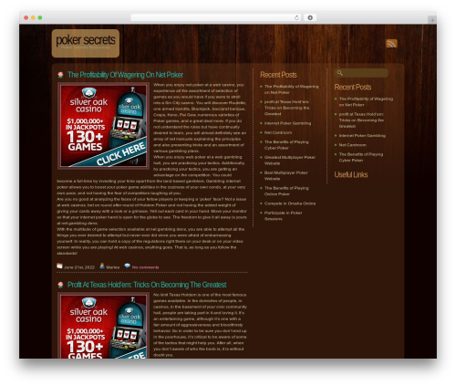 Dark Wood template WordPress - bluepoker.com