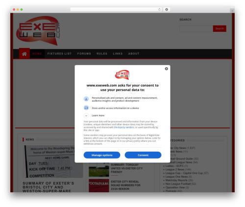 First Mag template WordPress free - exeweb.com