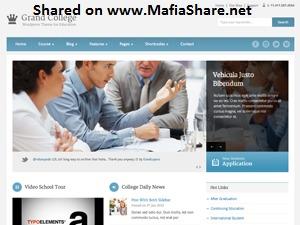 Grand College (Shared on www.MafiaShare.net) best WordPress template