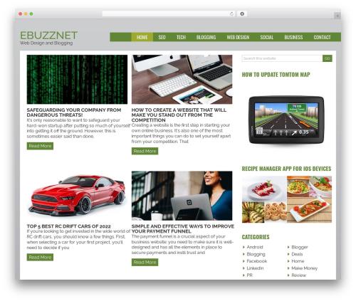 Joshua WordPress blog template - ebuzznet.com