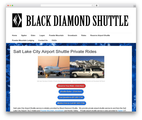 Responsive template WordPress free - blackdiamondshuttle.com