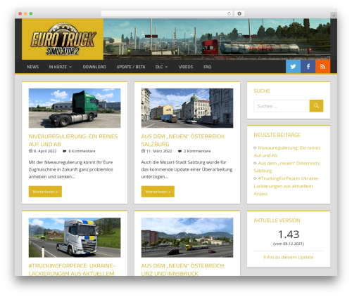 Tortuga free website theme - eurotrucksimulator2.de