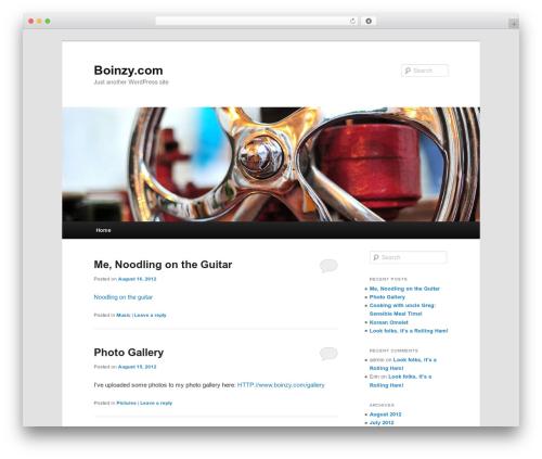Twenty Eleven WordPress theme - boinzy.com