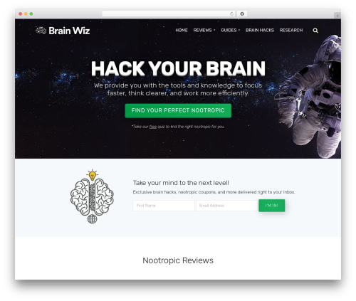 WordPress website template Economist - brainwiz.org