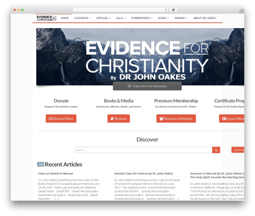 Best WordPress template MX - evidenceforchristianity.org