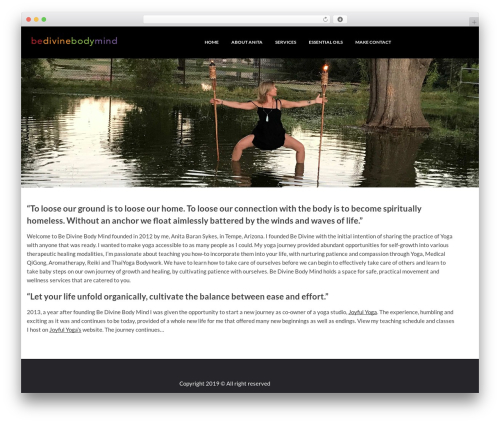 Moment WordPress template free - bedivineyoga.com