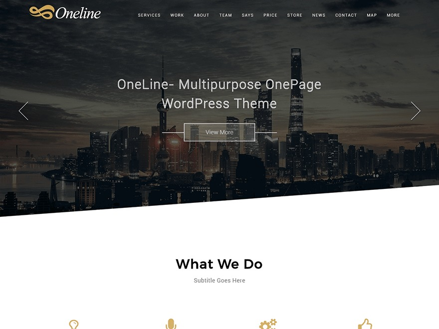 Oneline WordPress ecommerce template
