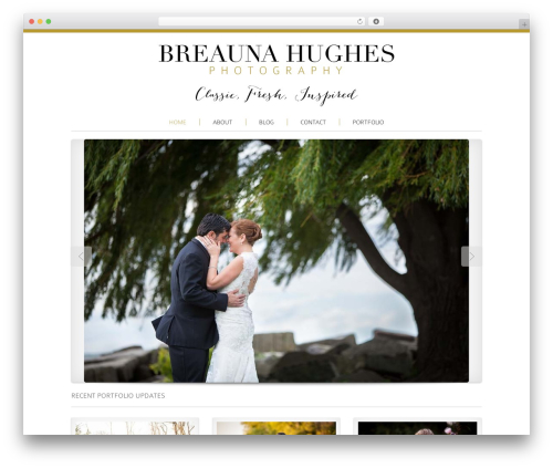 Reportage WordPress template for photographers - breaunahughes.com