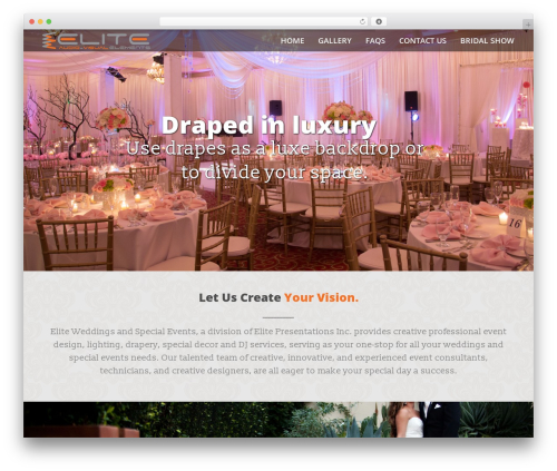 WordPress global-gallery plugin - eliteweddinglighting.com
