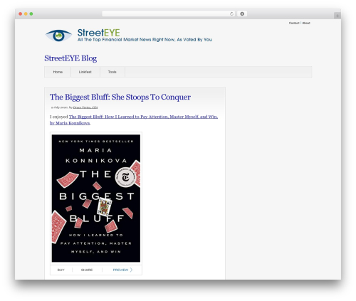 WordPress theme Convergence - blog.streeteye.com