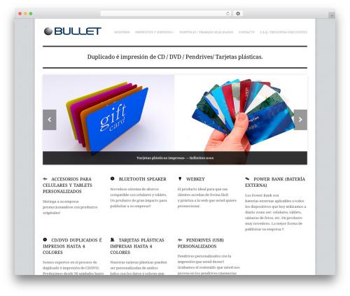 Adapt best WordPress template - bullet.com.uy