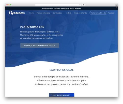 Best WordPress theme Class - educlass.com.br