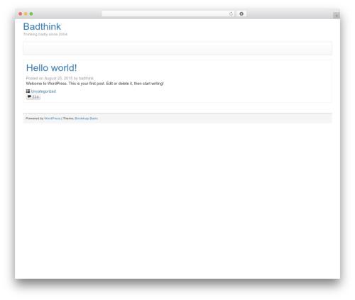 Bootstrap Basic WordPress free download - badthink.com