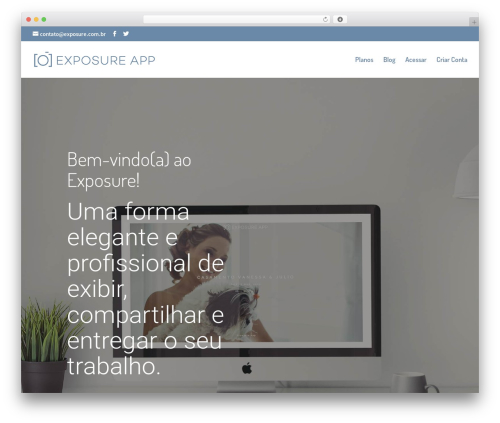 Divi premium WordPress theme - exposure.com.br