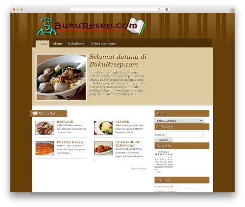 Gourmet WordPress template - bukuresep.com