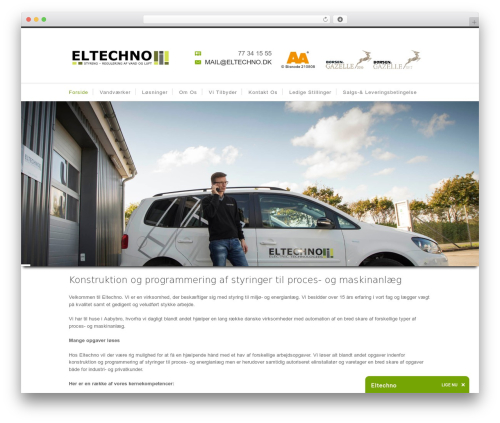 Nevada WordPress page template - eltechno.dk