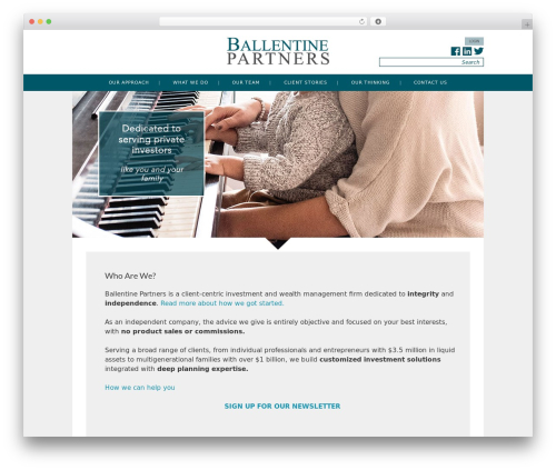 _s business WordPress theme - ballentinepartners.com