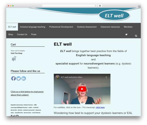 Simone WordPress theme design - eltwell.com