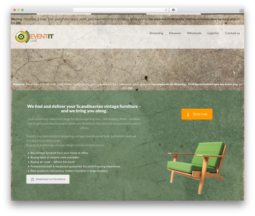 Simple WordPress theme - eventit.dk